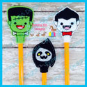 3 Piece Halloween Pencil Topper Set 1