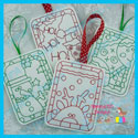 Christmas Color Me Tag/Gift Card Holder Bundle 1